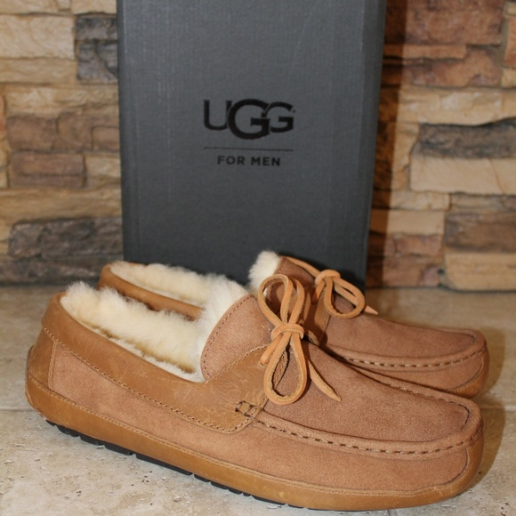 ae592ba274f UGG BYRON Suede Shearling Men's Slippers NEW! Boutique